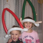 Balloon Santa and Elf Hats