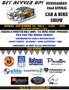 Just Plain Silly will be entertaining at the Pennsauken Car and Bike Show today beginning at 11 a.m.